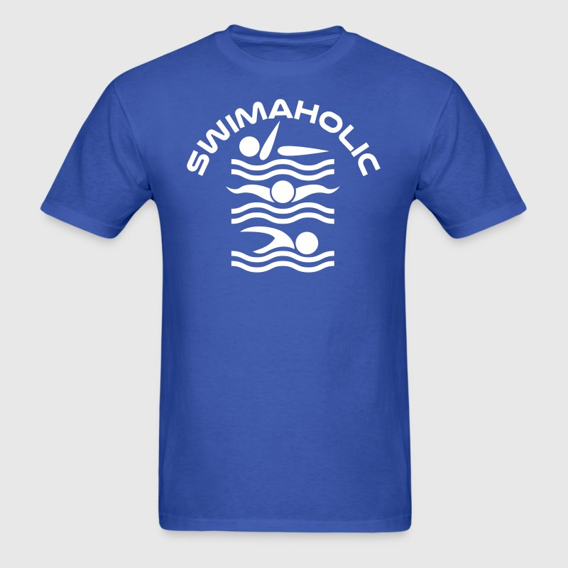 Swimaholic swimmer - Men's T-Shirt