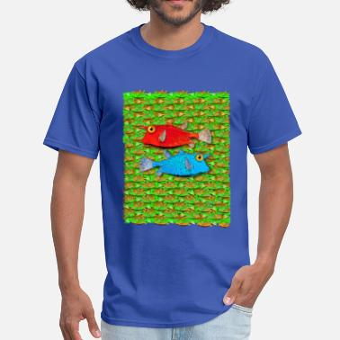 One Fish Two Fish red fish blue fish many fish - Men's T-Shirt