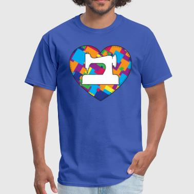 Singer Sewing Machine ♥ Quilting (Color) - Men's T-Shirt