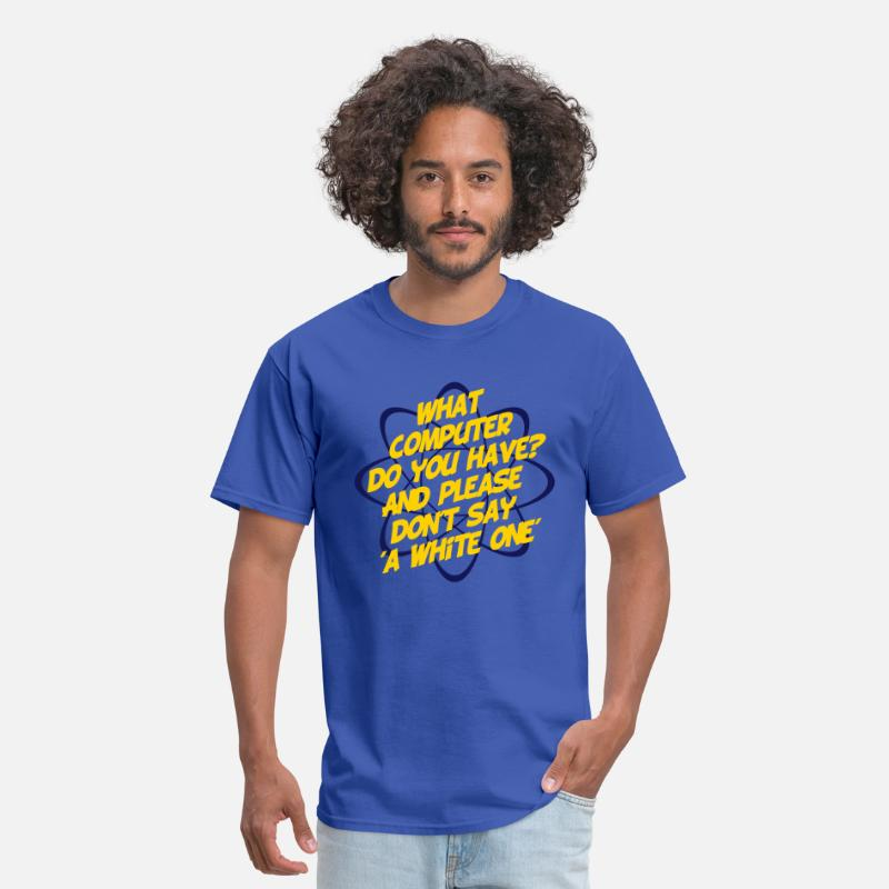 Big T-Shirts - What Computer Do You Have - Men's T-Shirt royal blue