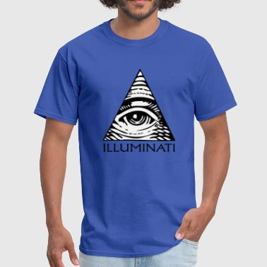 Illuminati triangle and eye - Men's T-Shirt