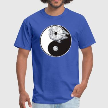 Yin Millenium falcon and death star Yin Yang - Men's T-Shirt
