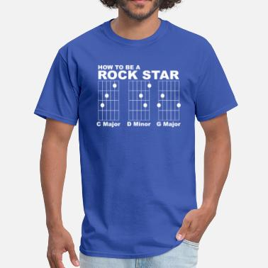 Guitar Chords How to be a Rock Star - Men's T-Shirt