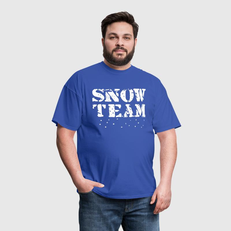 Snow Team, Winter Sports, Skiing, Snowboarding, - Men's T-Shirt