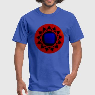 Sacred Geometry - Red Yantra of Protection - 13 pointed star - Men's T-Shirt