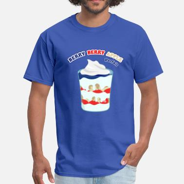 Red Berries Sweet Tooth Collection Berry Berry Apple Parfait - Men's T-Shirt