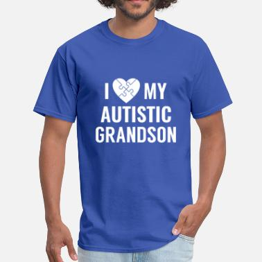 Autism Grandpa I Love My Grandson - Men's T-Shirt