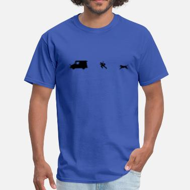 Carrier Chased by dog - Men's T-Shirt