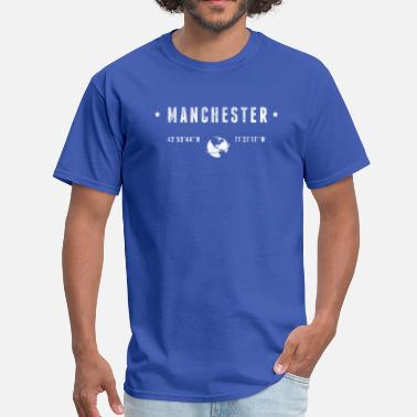 Geographic Coordinates Manchester - Men's T-Shirt
