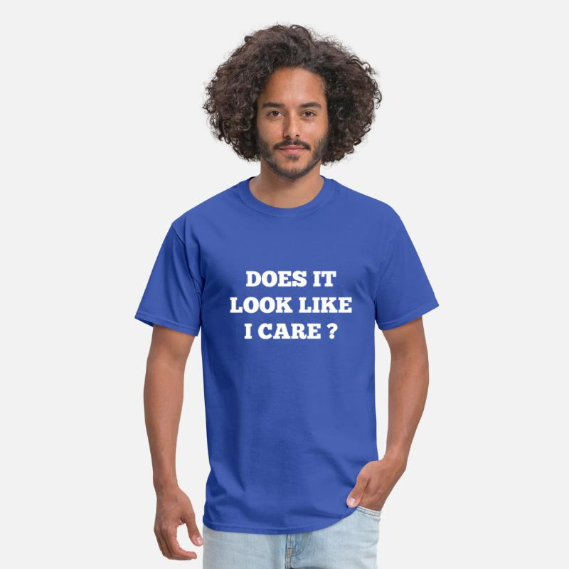 Awesome T-Shirts - Does It Look Like I Care? - Men's T-Shirt royal blue