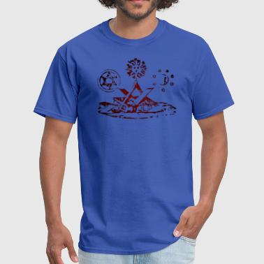 Scottish Rite Square & Compasses - Lights - Men's T-Shirt