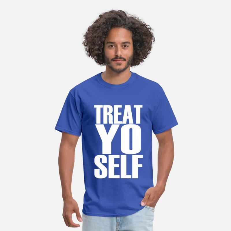 Parks And Recreation T-Shirts - Treat Yo Self - Men's T-Shirt royal blue