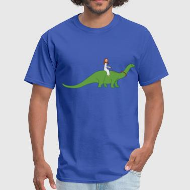Jc Jesus on a Brontosaurus - Men's T-Shirt
