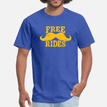 Free Beer FREE MUSTACHE RIDES - Men's T-Shirt