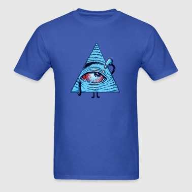 Funny all seeing eye - Men's T-Shirt