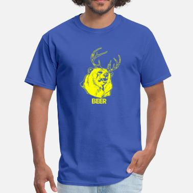 Beer Deer Bear Bear Deer Beer - Men's T-Shirt