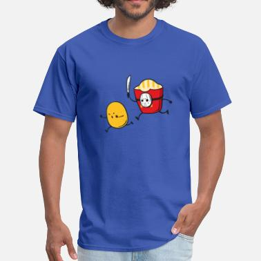 Funny Jokes Funny fast food french fries serial killer - Men's T-Shirt