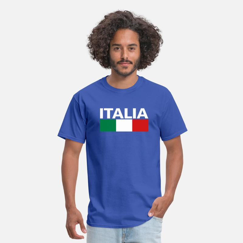 Italy T-Shirts - Italy Italia Flag - Men's T-Shirt royal blue