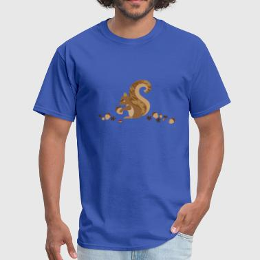 A squirrel with an acorn - Men's T-Shirt