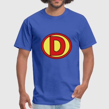 Super, Hero, Heroine, Initials, D - Men's T-Shirt