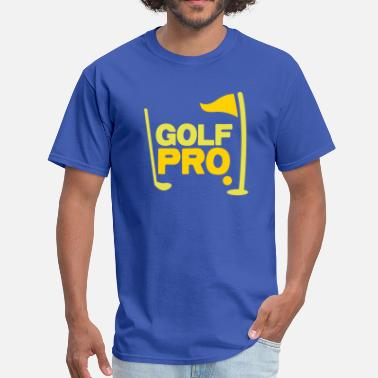 Pro Golf golf pro with golf ball flag and club - Men's T-Shirt