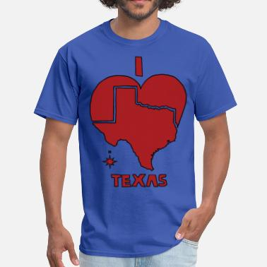 I Heart Tx  i heart Texas (red) - Men's T-Shirt