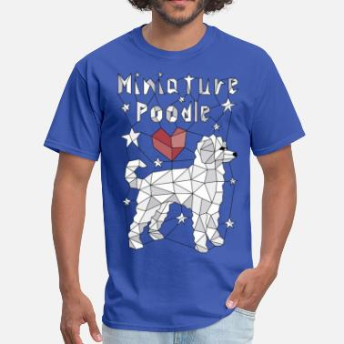 Geometric Miniature Poodle - Men's T-Shirt