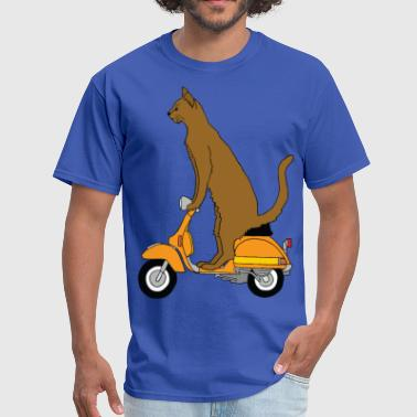 Motor-scooters  cat on motor scooter - Men's T-Shirt