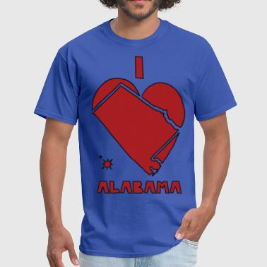 i heart alabama (red) - Men's T-Shirt