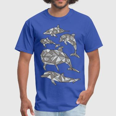 Draw Sportswear Geometric Dolphin  - Men's T-Shirt