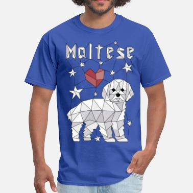 Geometric Maltese - Men's T-Shirt