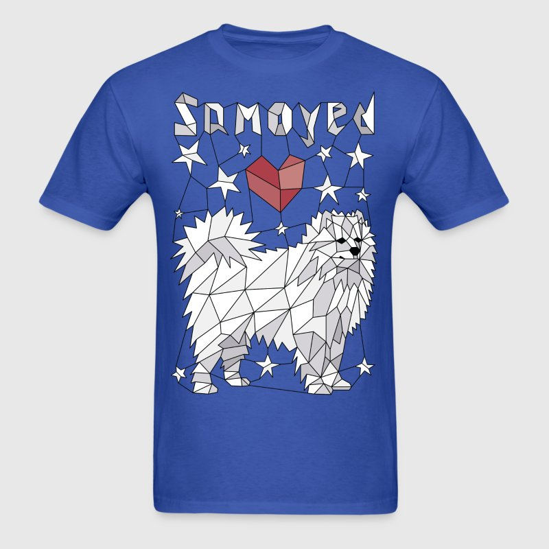 Geometric Samoyed - Men's T-Shirt