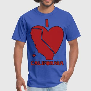 i heart California (red) - Men's T-Shirt