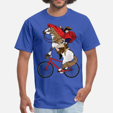 Funny Napoleon Riding Horse Who's Riding A Bike - Men's T-Shirt