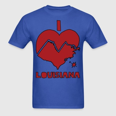 i heart Louisiana (red) - Men's T-Shirt
