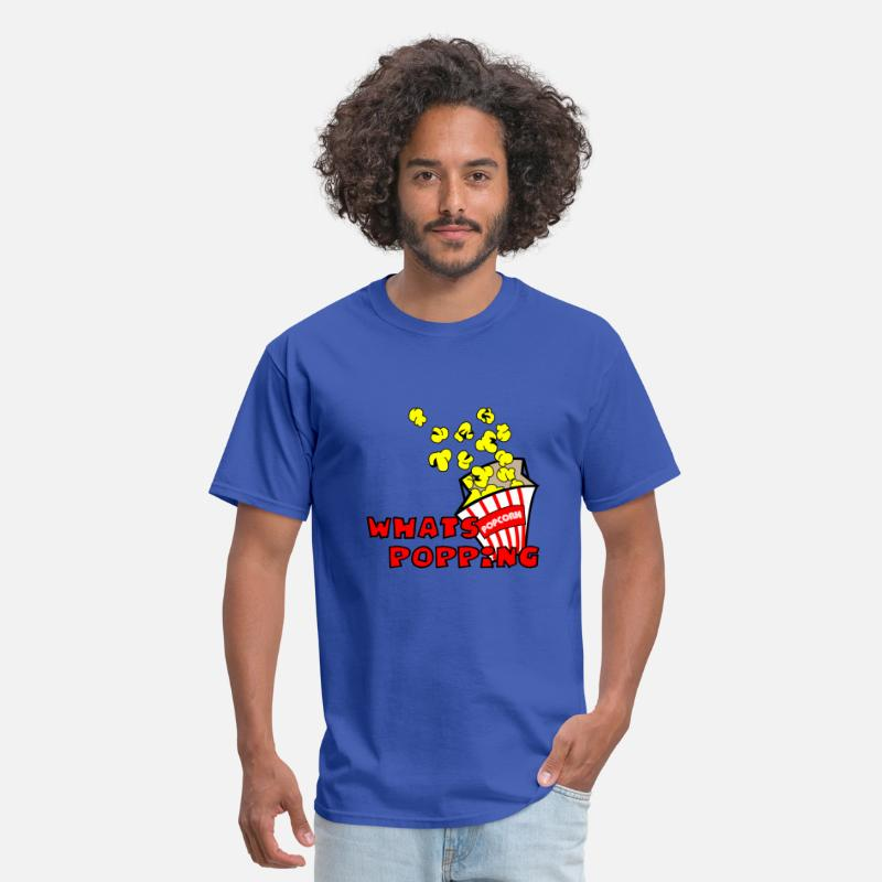 Miscellaneous T-Shirts - Royal blue Whats Popping? T-Shirts (Short sleeve) - Men's T-Shirt royal blue
