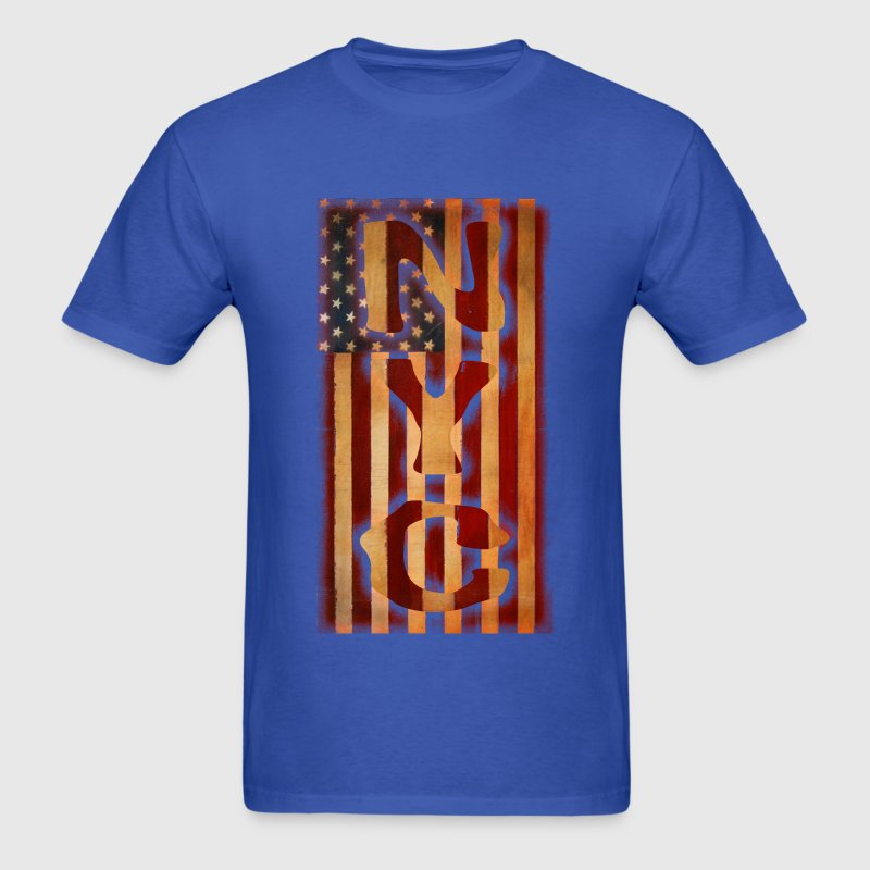 NYC American Flag United States USA Shirts T-Shirt - Men's T-Shirt