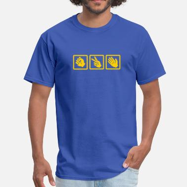 Stone rock paper scissors v2 - Men's T-Shirt