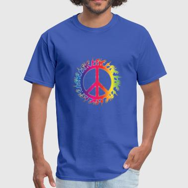 Anti-brand Peace and Love - Men's T-Shirt