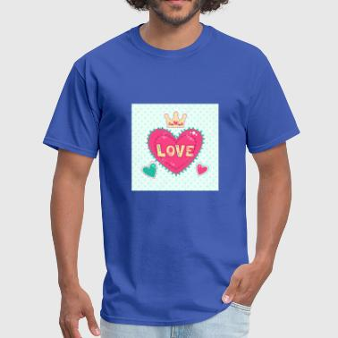 Girlish 51642015-Cute-girlish-fashion-illustration-with-he - Men's T-Shirt