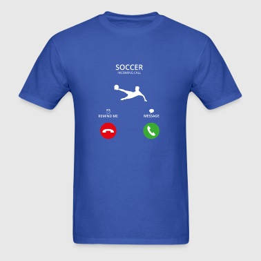 Call Mobile Anruf fussball soccer woman football w - Men's T-Shirt