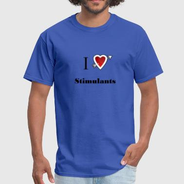 i love Stimulants heart - Men's T-Shirt