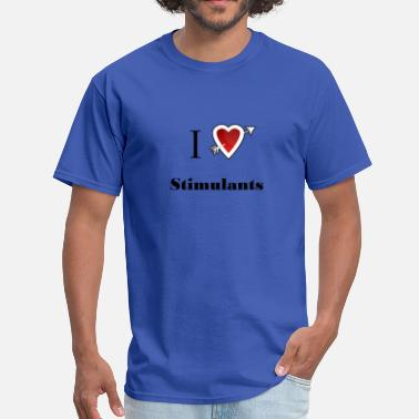 Stimulation i love Stimulants heart - Men's T-Shirt