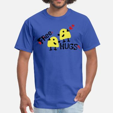 Birds Line Art Free Free hugs yellow birds - Men's T-Shirt