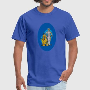 Yoda R2d2 r2d2 and c3p0 upgraded - Men's T-Shirt