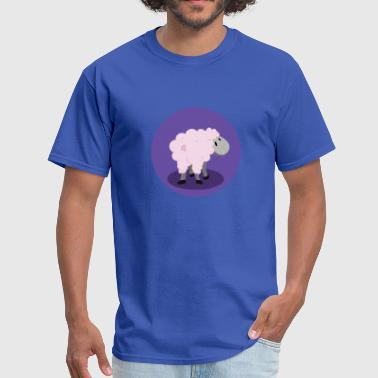 Back Horn Sheep T-Shirt Back View - Men's T-Shirt