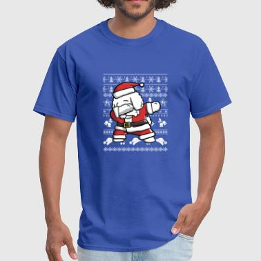 Bichon Frise Dab dance Funny for Christmas - Men's T-Shirt