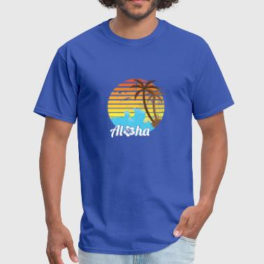 VINTAGE ALOHA HAWAII BEACH SUNSET PALM FUNNY GIFT - Men's T-Shirt