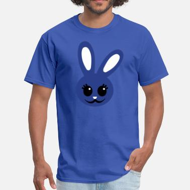 Easter Maternity cute rabbit face maternity or baby - Men's T-Shirt