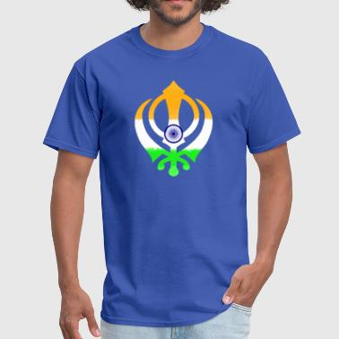 Indian Flag Khanda (Sikhism) - Men's T-Shirt